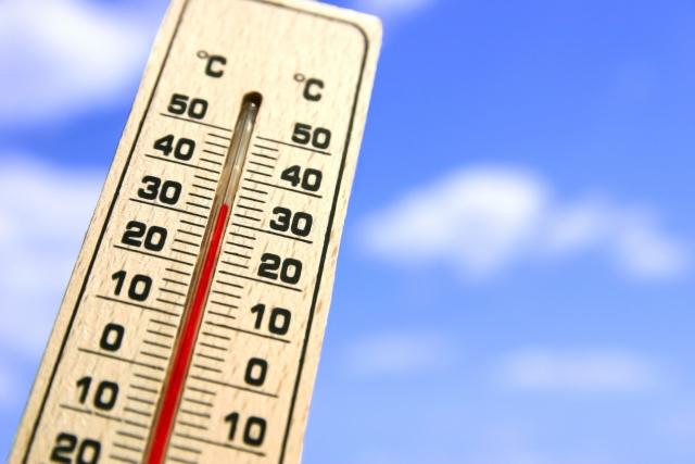 気温上昇 温度計