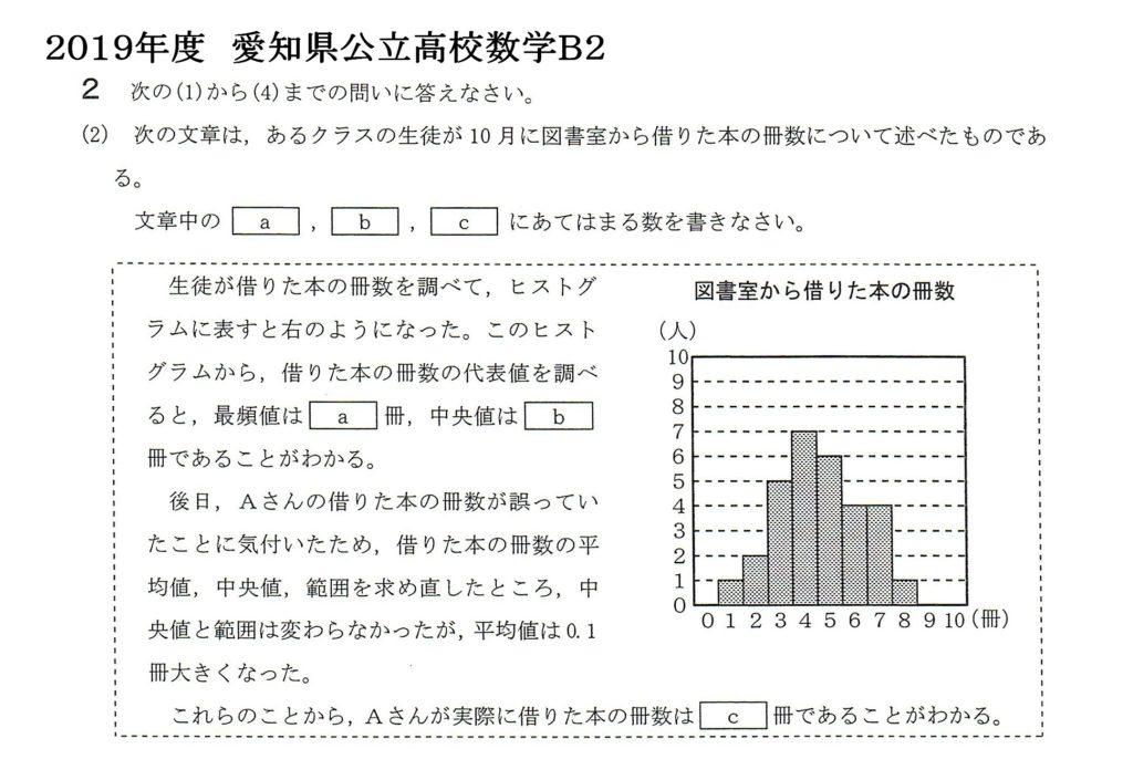 2019愛知県公立高校数学B